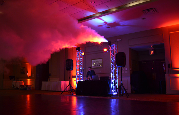 Dancefloor Smoke Effects Wedding Reception DJ