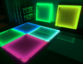 LED light up dance floor weddings rental