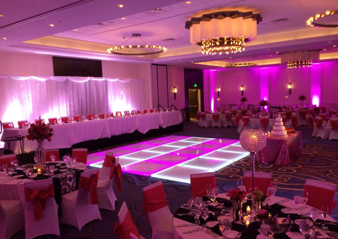 LED Lighted Dance Floor Wedding Reception
