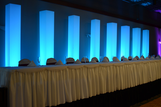 LED Lighted Columns Pillars Wedding