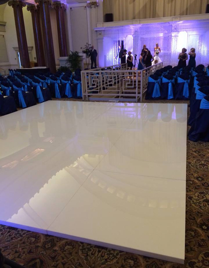 Light-up dance floor rental